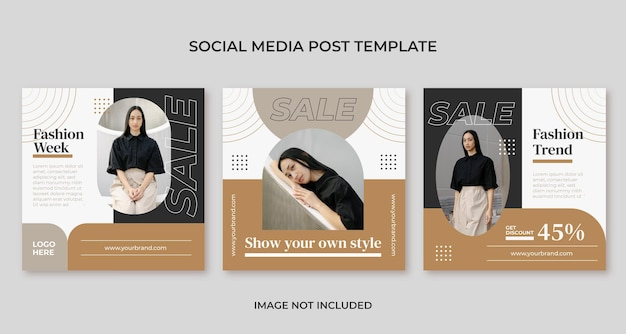 Mode minimale social-media-post-vorlage