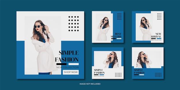 Mode minimalistische social-media-post-vorlagensammlung