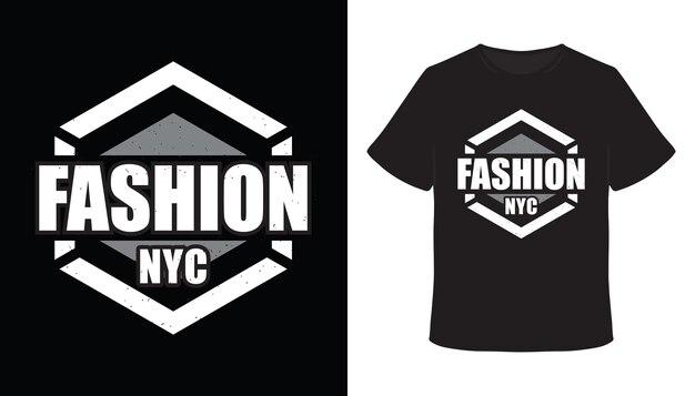 Mode new york city typografie t-shirt design