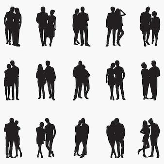 Mode-paar-silhouetten