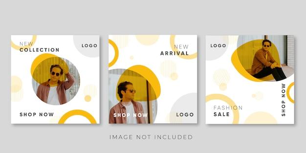 Mode-promotion-banner-vorlage für social-media-beitrag