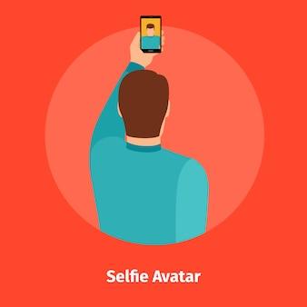 Mode selfie-ansicht für mobile app