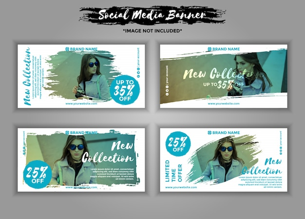 Mode-social-media-banner-vorlagenpaket