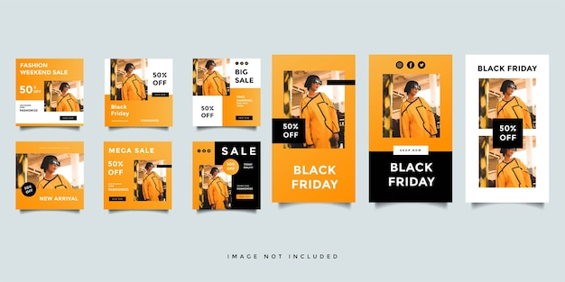 Mode social media feed post promotion design