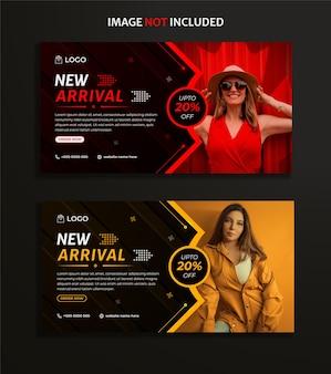 Mode social media post set design