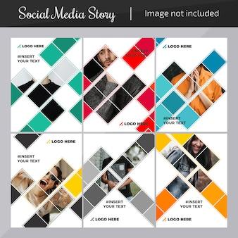 Mode social media post vorlage für das marketing