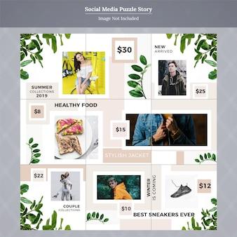 Mode social media post vorlage geschichte