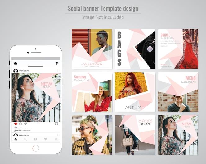 Mode-social-media-post-vorlage