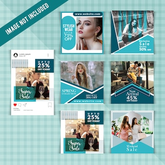 Mode social media post vorlage