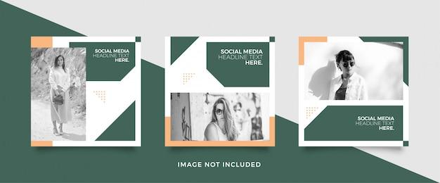 Mode social media post vorlage