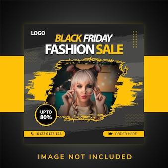 Mode-social-media-promotion und instagram-banner-post-design-vorlage