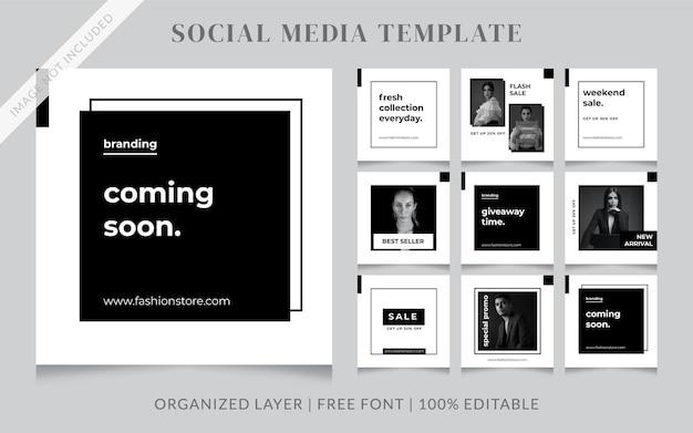Mode social media sale post vorlage
