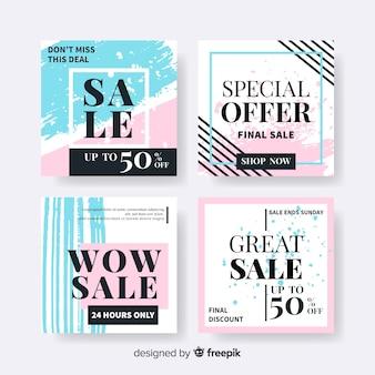 Mode social media sales banner sammlung