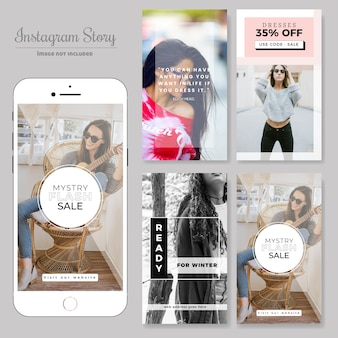 Mode-Social Media-Verkaufsfahne Post-Vorlage