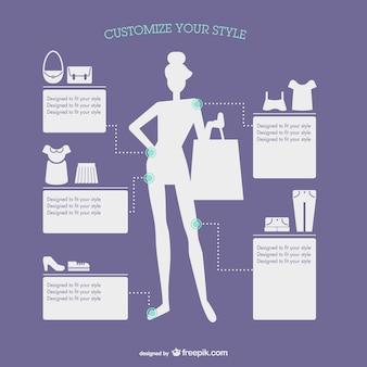 Mode-stil infografik