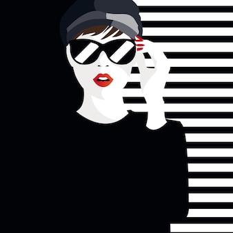 Mode-teenager-mädchen. illustration