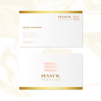 Mode- und schönheitsnamenskarten-designvektor