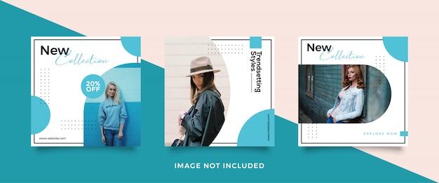 Mode verkauf banner vorlagensatz