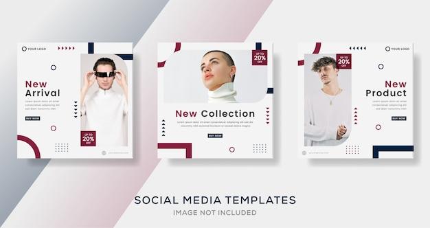 Mode verkauf geometrische banner vorlage beitrag.