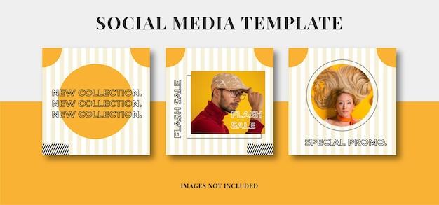Mode verkauf social media post vorlagen banner