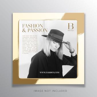Mode-vorlagen-design-banner für soziale medien