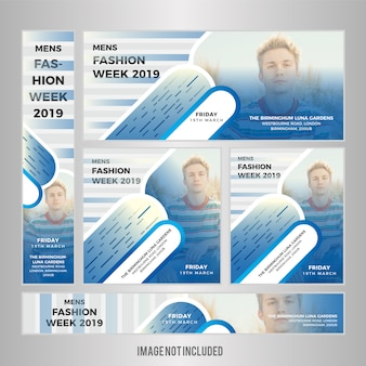 Mode web banner set design