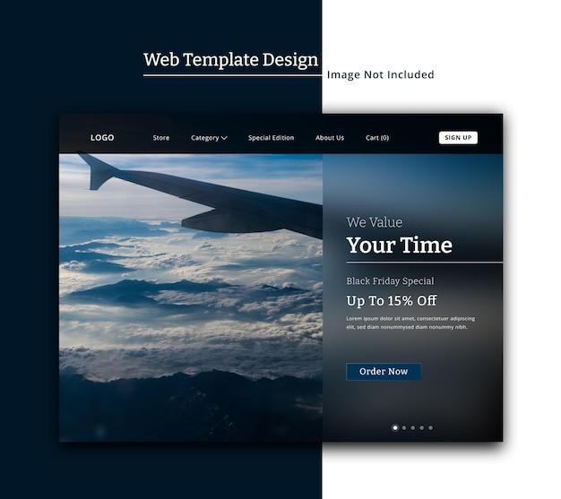 Mode-webvorlage oder landingpage mit glasmorphismus-design-ui-design