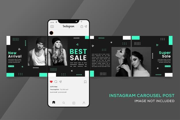 Modebanner für instagram nahtlose karussellschablonen