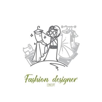 Modedesigner-konzeptillustration