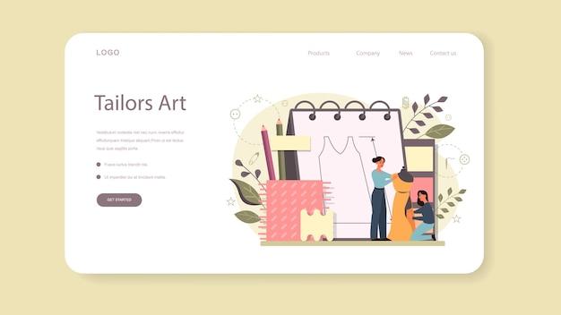 Modedesigner oder schneider web banner oder landing page