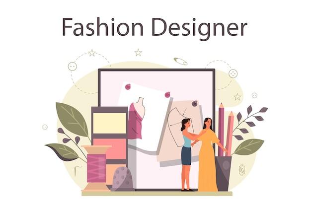 Modedesigner oder schneiderkonzept