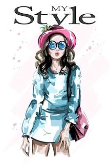 Modefrau im hut