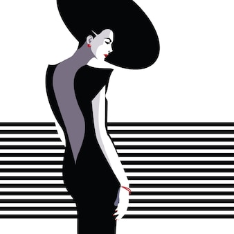 Modefrau im stil pop art.