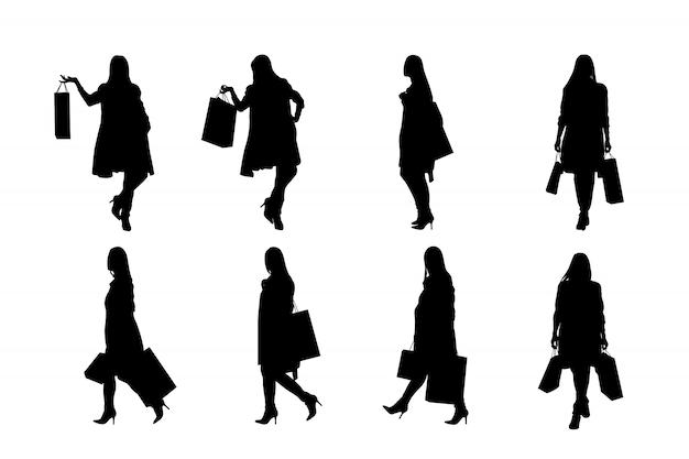 Modefrau stellte silhouette ein
