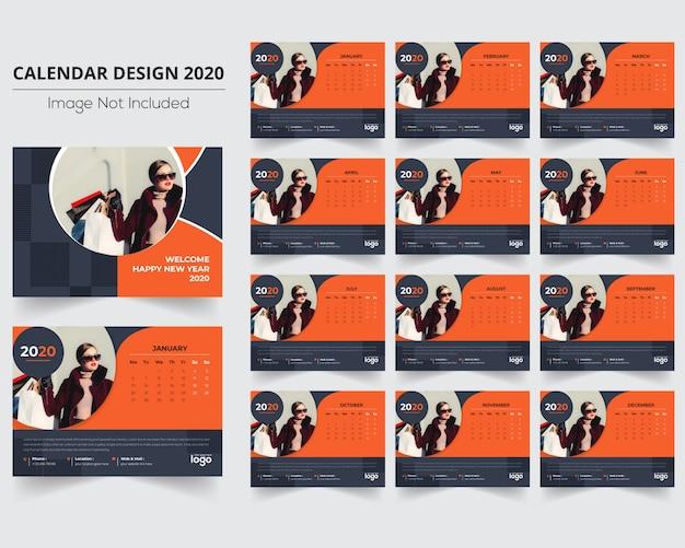 Modekalender 2020 mit 12 monaten
