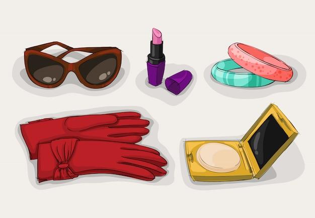 Modekollektion mit klassischen accessoires für damen
