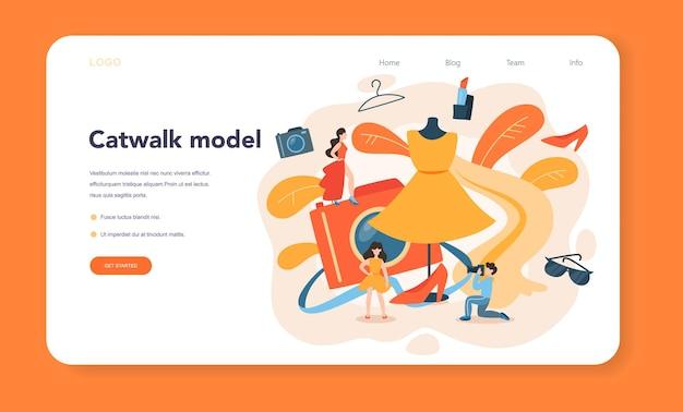 Model-webbanner oder landingpage