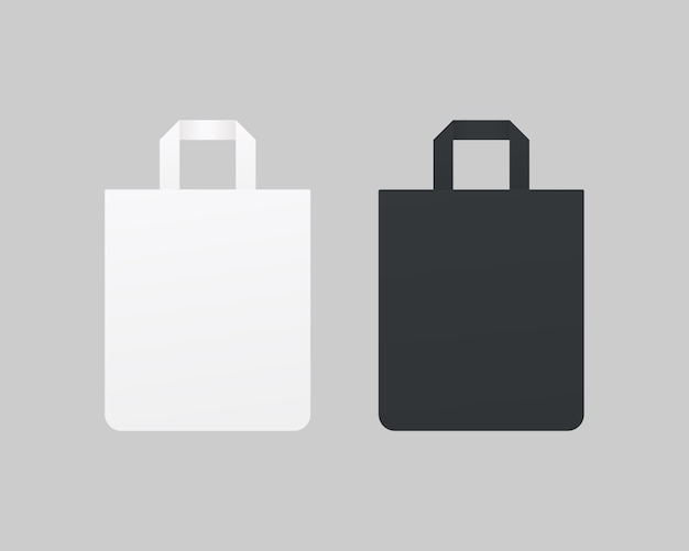Modell der leeren einkaufstaschen. modell isoliert.