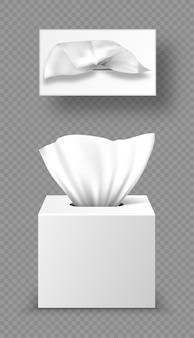 Modell der papierserviettenbox, verpackungen schließen und öffnen