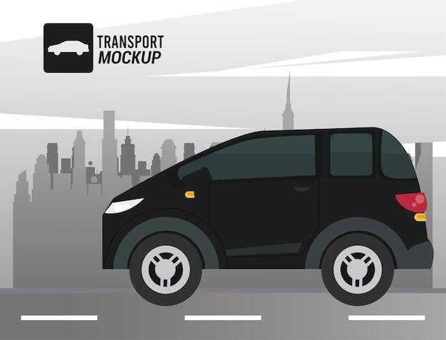 Modellautofarbe schwarz isoliertes symbol.