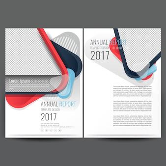 Modern business broschüre vorlage mit rosa und weißen abstrakten formen in a4 größe