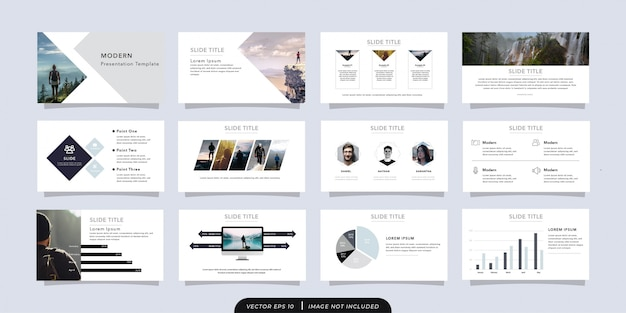 Modern business presentation template 12 seiten
