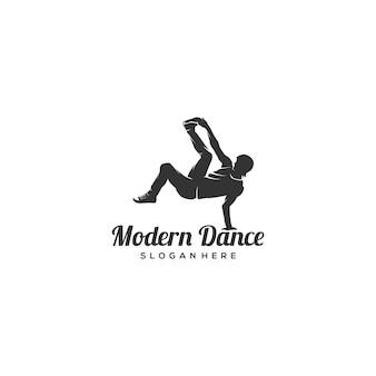 Modern dance silhouette logo