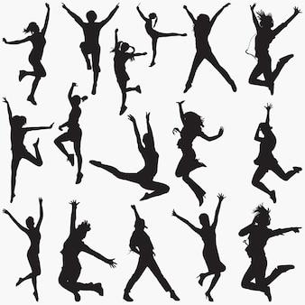Modern dance silhouetten