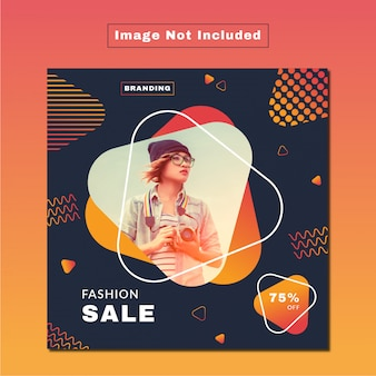 Modern fashion sale social web & print banner