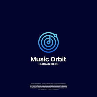 Modern kombinieren musik und orbit mit kreativem konzept