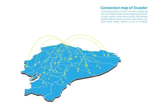 Modern von ecuador karte verbindungen netzwerk-design