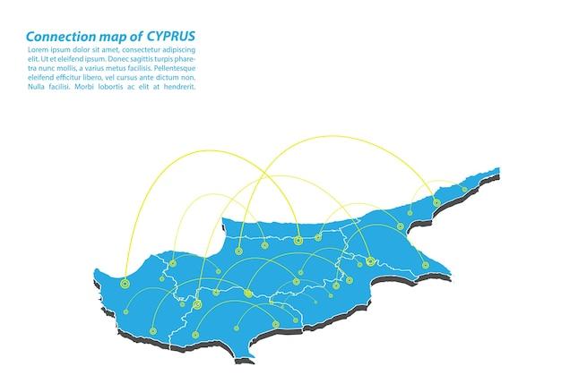 Modern von zypern karte verbindungen netzwerk-design