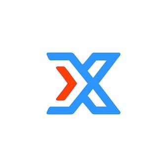 Modern x buchstabe logo
