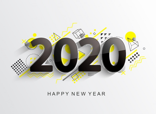 Moderne 2020 designkarte